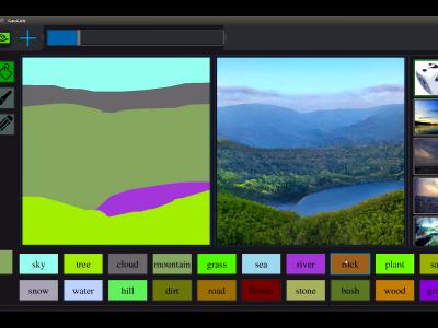 fot. Sztuczna inteligencja Nvidii zamieni szkice w fotorealistyczne pejzaże