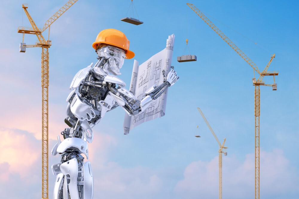 robot na budowie